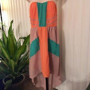 🍅 Flying Tomato Strapless Boho Flowy Dress Size M